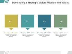 Developing A Strategic Vision Mission And Values Ppt PowerPoint Presentation Introduction