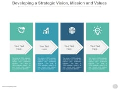 Developing A Strategic Vision Mission And Values Ppt PowerPoint Presentation Sample