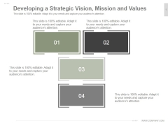 Developing A Strategic Vision Mission And Values Ppt PowerPoint Presentation Template