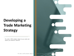 Developing A Trade Marketing Strategy Ppt Powerpoint Presentation Show Tips