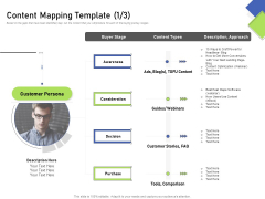 Developing Content Mapping Strategy Content Mapping Template Ppt Model Microsoft PDF