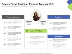 Developing Content Mapping Strategy Sample Target Customer Persona Template Goals Ppt Visual Aids Files PDF