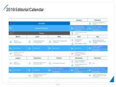 Developing Content Strategy 2019 Editorial Calendar Ppt Portfolio Outline PDF