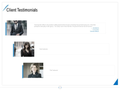Developing Content Strategy Client Testimonials Ppt Outline Icons PDF