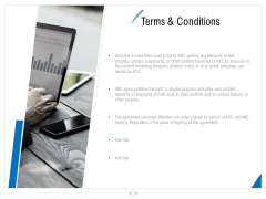 Developing Content Strategy Terms And Conditions Ppt Model Tips PDF