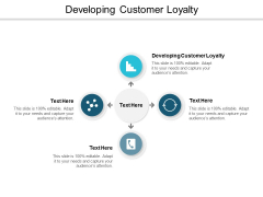Developing Customer Loyalty Ppt PowerPoint Presentation Slides Diagrams Cpb