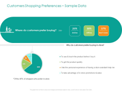 Developing Customer Service Strategy Customers Shopping Preferences Sample Data Summary PDF