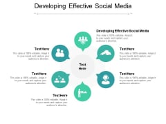 Developing Effective Social Media Ppt PowerPoint Presentation Summary Example Cpb Pdf