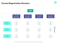 Developing Employee Competency Current Organization Structure Ppt Inspiration Infographics PDF