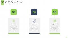 Developing Functional Logistic Plan Business 30 60 90 Days Plan Ppt Professional Information PDF