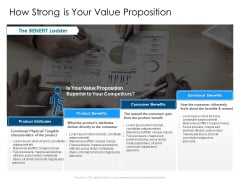 Developing Implementing Organization Marketing Promotional Strategies How Strong Is Your Value Proposition Formats PDF