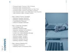 Developing Implementing Organization Marketing Promotional Strategies Table Of Contents Campaigns Inspiration PDF