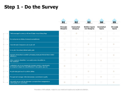 Developing Implementing Strategic HRM Plans Step 1 Do The Survey Ppt Model Example Topics PDF