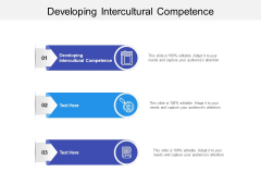 Developing Intercultural Competence Ppt PowerPoint Presentation Pictures Layout Ideas Cpb
