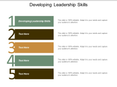 Developing Leadership Skills Ppt Powerpoint Presentation Ideas Display Cpb
