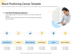 Developing Market Positioning Strategy Brand Positioning Canvas Template Inspiration PDF