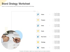 Developing Market Positioning Strategy Brand Strategy Worksheet Portrait PDF