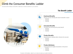 Developing Market Positioning Strategy Climb The Consumer Benefits Ladder Designs PDF