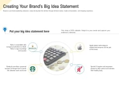 Developing Market Positioning Strategy Creating Your Brands Big Idea Statement Structure PDF