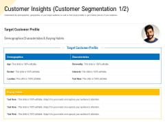 Developing Market Positioning Strategy Customer Insights Customer Segmentation Age Background PDF