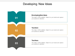 Developing New Ideas Ppt PowerPoint Presentation Infographic Template Themes Cpb