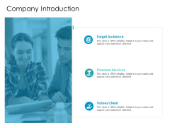 Developing New Sales And Marketing Strategic Approach Company Introduction Ppt PowerPoint Presentation Styles PDF