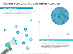 Developing New Sales And Marketing Strategic Approach Decide Your Creative Marketing Message Download