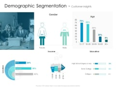 Developing New Sales And Marketing Strategic Approach Demographic Segmentation And Customer Insights Education Structure