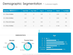 Developing New Sales And Marketing Strategic Approach Demographic Segmentation And Customer Insights Slides