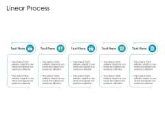 Developing New Sales And Marketing Strategic Approach Linear Process Summary