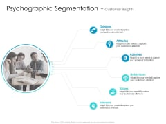 Developing New Sales And Marketing Strategic Approach Psychographic Segmentation And Customer Insights Icons