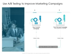 Developing New Sales And Marketing Strategic Approach Use A B Testing To Improve Marketing Campaigns Ppt PowerPoint Presentation File Sample PDF
