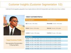 Developing New Trade Name Idea Customer Insights Customer Segmentation Customer Ppt Icon Images PDF