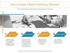 Developing New Trade Name Idea How To Create A Brand Positioning Statement Ppt Styles Show PDF
