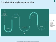 Developing Organization Partner Strategy 5 Roll Out The Implementation Plan Ppt PowerPoint Presentation Portfolio Graphics Example PDF