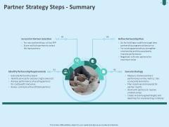 Developing Organization Partner Strategy Steps Summary Ppt Infographics PDF