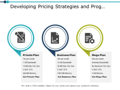Developing Pricing Strategies And Prog Planning Ppt PowerPoint Presentation Gallery Icon