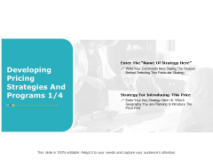 Developing Pricing Strategies And Programs Strategy Ppt PowerPoint Presentation Icon Backgrounds