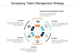 Developing Talent Management Strategy Ppt PowerPoint Presentation Show Designs Download Cpb