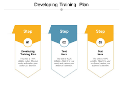 Developing Training Plan Ppt PowerPoint Presentation Infographic Template Structure Cpb