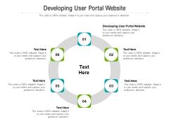 Developing User Portal Website Ppt PowerPoint Presentation Portfolio Master Slide Cpb Pdf