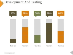 Development And Testing Ppt PowerPoint Presentation Gallery Slideshow