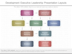 Development Executive Leadership Presentation Layouts