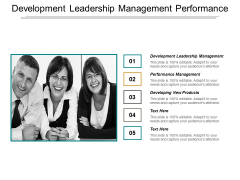 Development Leadership Management Performance Management Developing New Products Ppt PowerPoint Presentation Show Styles