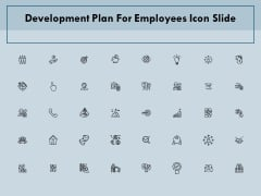 Development Plan For Employees Icon Slide Ppt PowerPoint Presentation Slides Influencers