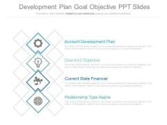 Development Plan Goal Objective Ppt Slides