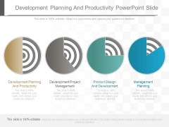 Development Planning And Productivity Powerpoint Slide