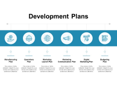 Development Plans Operations Ppt PowerPoint Presentation Infographics Icon