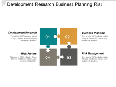 Development Research Business Planning Risk Factors Risk Management Ppt PowerPoint Presentation Inspiration Example