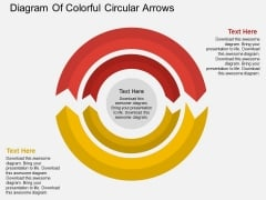 Diagram Of Colorful Circular Arrows Powerpoint Template
